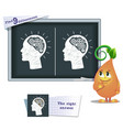 game find 9 differences brain vector image vector image