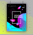 geometric gradient background trendy graphic vector image vector image