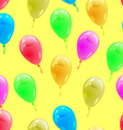 glossy multicolored balloons Seamless wallpaper vector image vector image