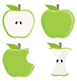 Green apple set vector image