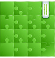 green plastic pieces puzzle game vector image