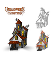 Halloween monsters haunted house EPS10 file vector image vector image