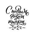 happy new year of a tiger 2022 hand drawn russian vector image vector image