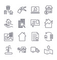 home rent mortgage icons set real estate vector image vector image