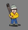 hooligan comic character vector image vector image