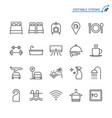 hotel service line icons editable stroke vector image