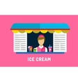 Ice cream fast food objects set Milk product vector image