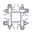 linear designer concept logo vector image