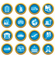 logistic icons blue circle set vector image vector image