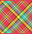 madras diagonal fabric texture pixeled seamless vector image vector image