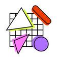 memphis composition geometric vector image vector image