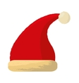 merry christmas hat isolated icon vector image vector image