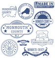 Monmouth county New Jersey stamps and seals vector image vector image