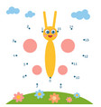 numbers game for children butterfly vector image vector image