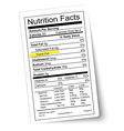 Nutrition facts label Fat highlighted vector image vector image