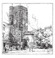 old church at chelsea innovation vintage engraving