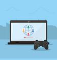 online videogames network vector image