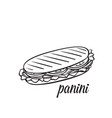 panini or sandwich vector image
