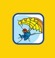 paraglider paraglider in sky vector image
