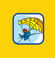 paraglider paraglider in sky vector image vector image