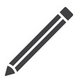 pencil glyph icon web and mobile edit sign vector image