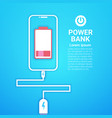 portable battery power bank charging modern mobile vector image vector image