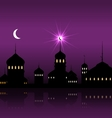 Ramadan Kareem Night Background with Silhouette vector image