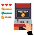 retro arcade game console joystick