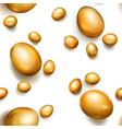 seamless pattern golden easter eggs vector image