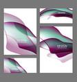 set fluid color covers vector image