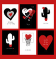 set of funny love cards vector image