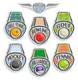 set sports logo vector image vector image