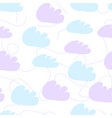 simple seamless pattern with clouds pattern vector image vector image