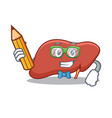 student liver character cartoon style vector image