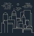 stylish night modern city line art vector image