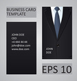 Suit business card template vector image