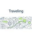 Traveling banner doodle vector image