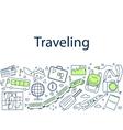 Traveling banner doodle vector image