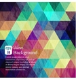 Triangle background with texture of crumpled sheet vector image vector image