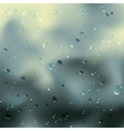 Water drops on glass vector image vector image