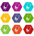 water smartphone icons set 9 vector image vector image
