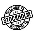 welcome to stockholm black stamp vector image vector image