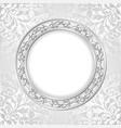 white frame vector image