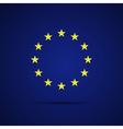 Circular stars of the European Union on blue vector image