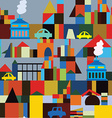 Industrial town seamless pattern vector image