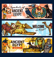 ancient egypt banners tourism and travel vector image