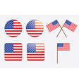 badges with United States flag vector image vector image