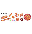 bakery and bread collection different vector image vector image