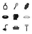 bathroom things icons set simple style vector image vector image