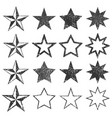 black star shape empty stamps frames icon vector image vector image